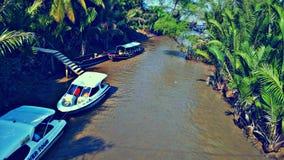 Ποταμός του Βιετνάμ, Mekong Στοκ εικόνα με δικαίωμα ελεύθερης χρήσης