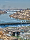 Ποταμός του Μισσούρι μέσω των μεγάλων πτώσεων Στοκ εικόνα με δικαίωμα ελεύθερης χρήσης