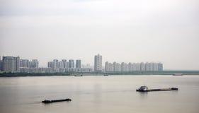 Ποταμός του Ναντζίνγκ Yangtze, Ναντζίνγκ Κίνα Στοκ Εικόνες