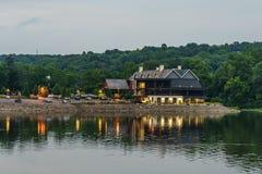 Ποταμός του Ντελαγουέρ στο καλοκαίρι από την ιστορική νέα ελπίδα, PA Στοκ Εικόνα
