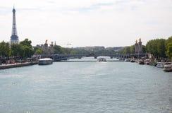 Ποταμός του Παρισιού - της Γαλλίας, Σηκουάνας Στοκ φωτογραφία με δικαίωμα ελεύθερης χρήσης