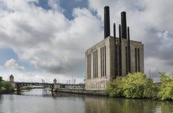 Ποταμός του Σικάγου, Σικάγο Ιλλινόις στοκ εικόνες με δικαίωμα ελεύθερης χρήσης