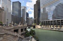 Ποταμός του Σικάγου, Σικάγο Στοκ Εικόνα