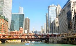 ποταμός του Σικάγου Στοκ εικόνα με δικαίωμα ελεύθερης χρήσης
