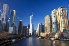 Ποταμός του Σικάγου Στοκ Εικόνες