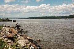 Ποταμός του Hudson φυσικός Στοκ Φωτογραφίες