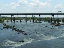 Ποταμός του James στο Ρίτσμοντ Βιρτζίνια Στοκ Εικόνες