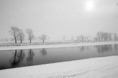 Ποταμός το χειμώνα Στοκ φωτογραφία με δικαίωμα ελεύθερης χρήσης