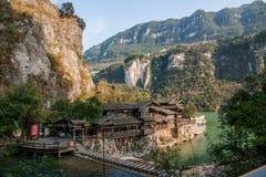 Ποταμός τρία φαράγγια Dengying Xia Yiling Yangtze Hubei στους ανθρώπους ρευμάτων ανθρώπων ` φαραγγιών ` τρία Στοκ φωτογραφίες με δικαίωμα ελεύθερης χρήσης