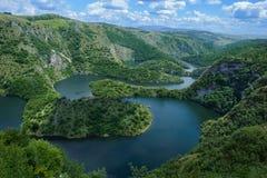 Ποταμός, φαράγγι Uvac στοκ φωτογραφία
