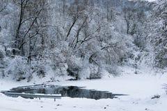 Ποταμός χειμερινών νεράιδων Στοκ Φωτογραφίες