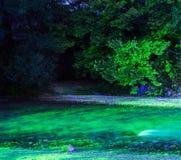 Ποταμός Acheror στη νύχτα Στοκ Εικόνες