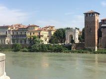 Ποταμός Adige Βερόνα Στοκ Εικόνα