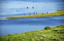 Ποταμός Angara κοντά στο Ιρκούτσκ Στοκ φωτογραφία με δικαίωμα ελεύθερης χρήσης