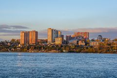 Ποταμός Angara στο Ιρκούτσκ Στοκ εικόνες με δικαίωμα ελεύθερης χρήσης