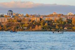 Ποταμός Angara στο Ιρκούτσκ Στοκ Εικόνες