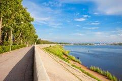 Ποταμός Angara στο Ιρκούτσκ Στοκ Φωτογραφίες