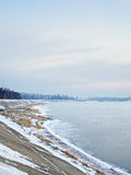 Ποταμός Angara στο χειμώνα Στοκ Εικόνα