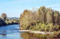 Ποταμός Aquitaine Γαλλία Στοκ εικόνα με δικαίωμα ελεύθερης χρήσης