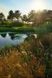 Ποταμός Aramilka σε Aramil Στοκ Εικόνες