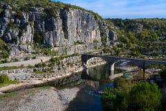 Ποταμός Ardeche Στοκ Φωτογραφίες