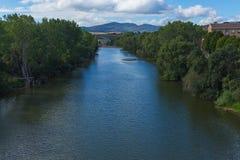 Ποταμός Arga, Ισπανία Στοκ Φωτογραφία
