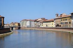 Ποταμός Arno, Πίζα στοκ φωτογραφίες