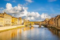 Ποταμός Arno στη Φλωρεντία Στοκ εικόνα με δικαίωμα ελεύθερης χρήσης