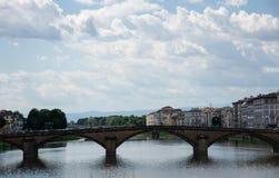Ποταμός Arno στη Φλωρεντία (Φλωρεντία), Τοσκάνη, Ιταλία Στοκ Εικόνες