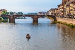 Ποταμός Arno στη Φλωρεντία Στοκ φωτογραφία με δικαίωμα ελεύθερης χρήσης