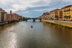 Ποταμός Arno στη Φλωρεντία Στοκ φωτογραφίες με δικαίωμα ελεύθερης χρήσης