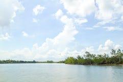 Ποταμός Bangprakong στο chachoengsao Ταϊλάνδη Στοκ Φωτογραφία