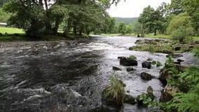 Ποταμός betws-Υ-Coed Ουαλία UK προς Swallow τις πτώσεις απόθεμα βίντεο