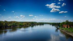 Ποταμός Bosut Στοκ φωτογραφία με δικαίωμα ελεύθερης χρήσης
