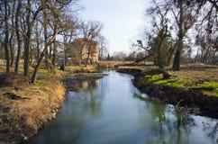 Ποταμός Bystrzyca σε Wroclaw - την Πολωνία Στοκ εικόνα με δικαίωμα ελεύθερης χρήσης