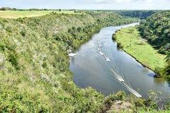 Ποταμός Chavon, Δομινικανή Δημοκρατία, περιοχή που χρησιμοποιήθηκε στους κινηματογράφους μαγνητοσκόπησης όπως το Apocalypse Now,  Στοκ εικόνα με δικαίωμα ελεύθερης χρήσης