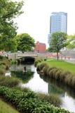 Ποταμός Christchurch Avon αγαλμάτων του Antony Gormley παραμονής Στοκ φωτογραφία με δικαίωμα ελεύθερης χρήσης