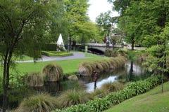 Ποταμός Christchurch Avon παραμονής αγαλμάτων του Antony Gormley Στοκ Εικόνες