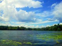Ποταμός Dnipro την ηλιόλουστη ημέρα Στοκ φωτογραφία με δικαίωμα ελεύθερης χρήσης
