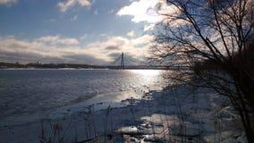 Ποταμός Dnipro το πρωί Στοκ εικόνα με δικαίωμα ελεύθερης χρήσης