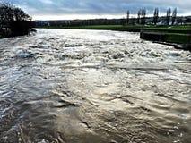 Ποταμός Exe στο θυελλώδη καιρό στοκ εικόνα με δικαίωμα ελεύθερης χρήσης