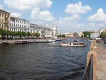 Ποταμός Fontanka σε Άγιο Πετρούπολη Ρωσία Στοκ Φωτογραφία
