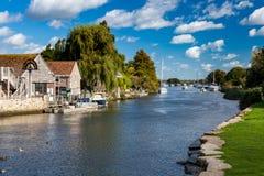 Ποταμός Frome Wareham Dorset στοκ φωτογραφία