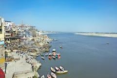 Ποταμός Ganga - ιερό μέρος για όλους τους ινδούς ανθρώπους Στοκ Φωτογραφία