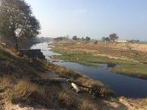 Ποταμός Ghagar Στοκ Φωτογραφίες