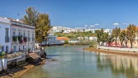 Ποταμός Gilao at low tide, Ταβίρα, Πορτογαλία στοκ εικόνες με δικαίωμα ελεύθερης χρήσης