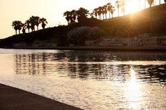 Ποταμός Hadera στο ηλιοβασίλεμα στοκ εικόνες