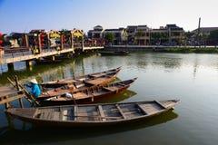Ποταμός Hoai στην αρχαία πόλη Hoian σε Hoian, Βιετνάμ Στοκ φωτογραφίες με δικαίωμα ελεύθερης χρήσης