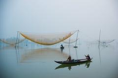 Ποταμός Hoai στην αρχαία πόλη Hoian στο Βιετνάμ Στοκ φωτογραφία με δικαίωμα ελεύθερης χρήσης