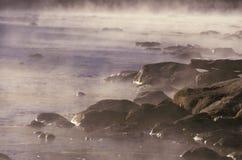 Ποταμός Housatonic με την υδρονέφωση πρωινού Στοκ Εικόνες